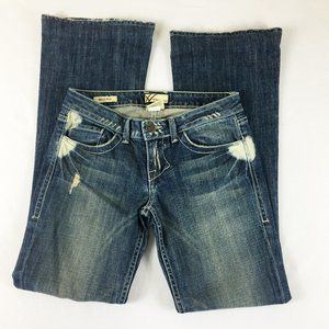 P18 William Rast Dstressed Belle Flare Jeans